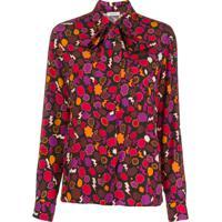 P.A.R.O.S.H. Blusa Com Estampa Gráfica - Vermelho