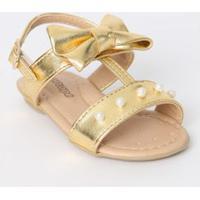 Sandália Bebê Dourada - Ortopé - 19