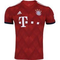 Camisa Bayern De Munique 18 19 Adidas - Masculina - Vermelho Branco b406cb8f50319