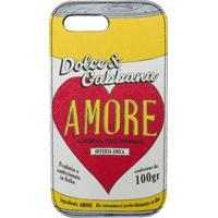 Dolce & Gabbana Capa Para Iphone 7/8 Plus 'Amore' De Couro - Estampado