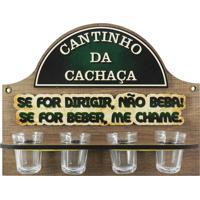 Cantinho Da Cachaça Kasa Ideia C/ 4 Copos Dirigir...