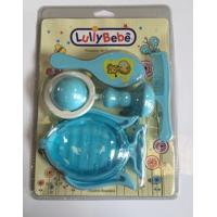 Kit Bebê Higiene Lully Bebê Com Chocalho Saturno Peixinho Azul