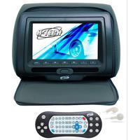 """Encosto De Cabeça Com Monitor - H-Tech - Com Tela De 7"""" Led, Controle, Compatível Com Mp3, Mp4, Mp5 - Grafite - Cada (Unidade) - Ht-Eu40Zp"""