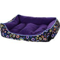 Cama Pet Retangular Para Cachorros E Gatos Roxa 80Cm X 60Cm - Meu Pet
