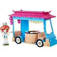 Playset My Little Pony - 25 Cm - Equestria Girls - Food Truck De Sushi - Sunset Shimmer - Hasbro - Unissex-Incolor