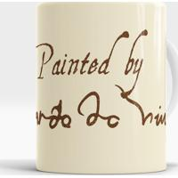 Caneca Painted By Da Vinci