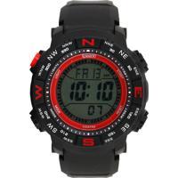 Relógio Speedo 81137G0Evnp2 Preto/Vermelho