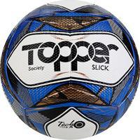 Bola De Futebol Society Topper Slick Ii Tecnofusion - Unissex