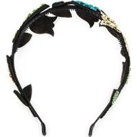 P.A.R.O.S.H. Headband Com Aplicação De Brilho - Preto