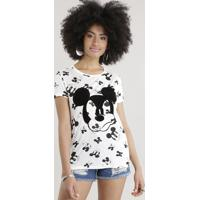 Blusa Estampada Mickey Off White
