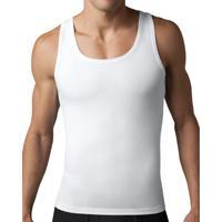 Kit Com 02 Regatas Slim Fitness Modeladora Postural E Redutora Branca