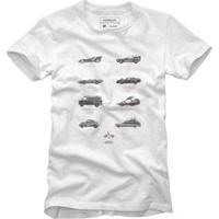 Camiseta Reserva Carros Bolados Acelerados Masculina - Masculino-Branco