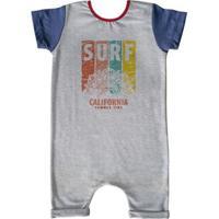 Macacão Infantil Curto Comfy California - Unissex-Cinza