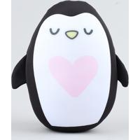 Almofada De Pinguim Preta - Único
