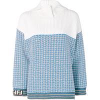 Fendi Suéter Xadrez - Azul