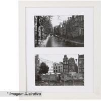 Porta Retrato Para 2 Fotos- Branco- 43X21X2Cm- Kkapos