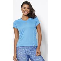 Camiseta Com Microfuros & Pespontos - Azul & Verdewilson