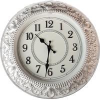 Relógio De Parede Estilo Antigo Vintage Detalhes Envelhecido 40X40 - Minas