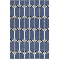 Tapete Supreme Geométrico- Azul & Preto- 200X150Cmtapete São Carlos
