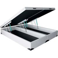 Base Para Cama Box Queen Premium Com Baú (45X158X198) Corino Branca