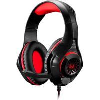 Headset Gamer Warrior Rama P3+Usb Stereo Adaptador P2 Led - Unissex