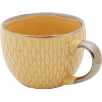 Conjunto 6 Xícaras De Porcelana P/Café Sahali Amarelo 90Ml