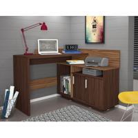Escrivaninha Mega Office Castanho E Amêndoa