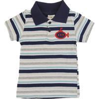 Camisa Infantil Polo Listrada