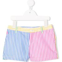 Ralph Lauren Kids Striped Print Shorts - Azul