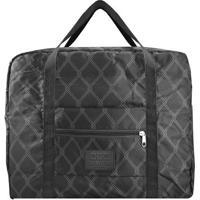 Bolsa De Viagem Dobrável- Preta & Cinza- 36,5X45X20Cjacki Design