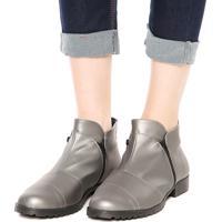 7e7d2b809fc Bota Dafiti Shoes Recortes Zíper Prata Velha