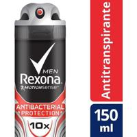 Desodorante Rexona Aerosol Antitranspirante Antibacterial+Invisible Feminino 150Ml - Feminino-Incolor