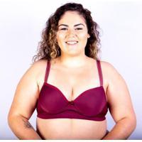 Sutiã Bojo Plus Size Gatria Reforçado Satin Feminino - Feminino-Vinho