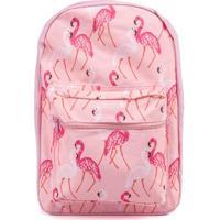 Mochila Estampa Flamingo Rosa -