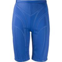 Mugler Short Ciclista - Azul