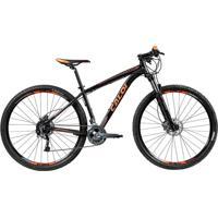 "Bicicleta Mtb Caloi Moab Aro 29 - Susp Dianteira - Quadro Alumínio 19\"" - 27 Velocidades - Preto Fosc"