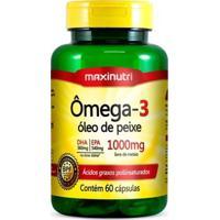 Ômega 3 - 60 Cápsulas - Maxinutri - Unissex