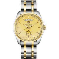 Relógio Tevise 8379-002 Masculino Automático Pulseira De Aço - Dourado