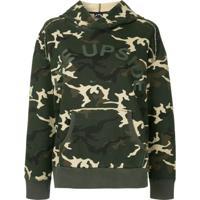 The Upside Blusa De Moletom Camuflada Com Capuz - Verde