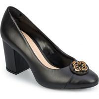 Sapato Tradicional Em Couro Com Tag - Pretocapodarte
