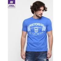 Camiseta Pretorian No Pain No Gain Masculina - Masculino-Azul