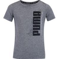 Camiseta Puma Active Sports Basic - Infantil - Cinza
