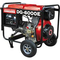 Gerador De Energia À Diesel Monofásico 5000W Dg-6000E Kawashima