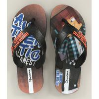 Chinelo Infantil Ipanema Authentic Games Preto