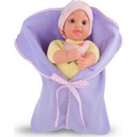 Boneca My First Baby Amarela Com Lilás Cortex
