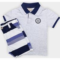 080e35a84b819 Conjunto De Camisa Polo + Bermuda Infantil Milon Masculino - Masculino