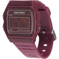 Relógio Digital Mormaii Vintage Mojh02Bf - Feminino - Vinho