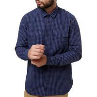 Camisa Manga Longa Masculina Azul Marinho e64677b42a572