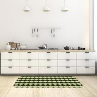 Tapete De Cozinha Mdecore Abstrato Verde 40X120Cm