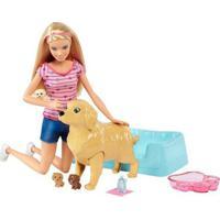 Boneca Barbie Family - Loira - Filhotinhos Recém-Nascidos - Mattel